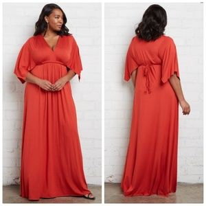 Rachel Pally White Label Red Caftan Maxi Dress 2X